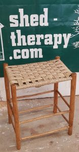 stool with woven top